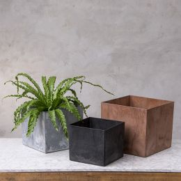 Kona Square Planters, Set of Three