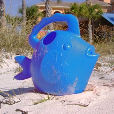 Fish Watering Can, Blue