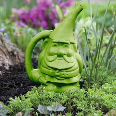 Gnome Watering Can, Green